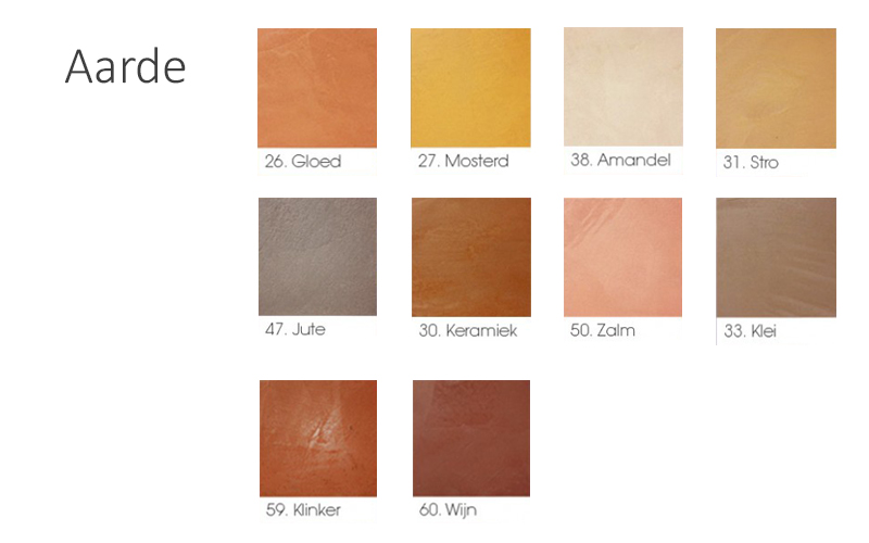 beton cire kleur aarde