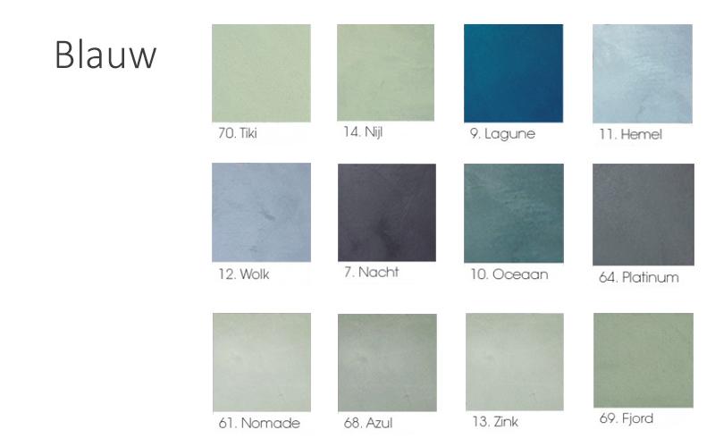 beton look kleur blauw