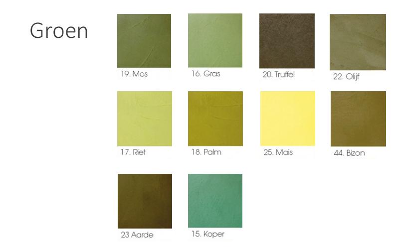 betonlook kleur groen