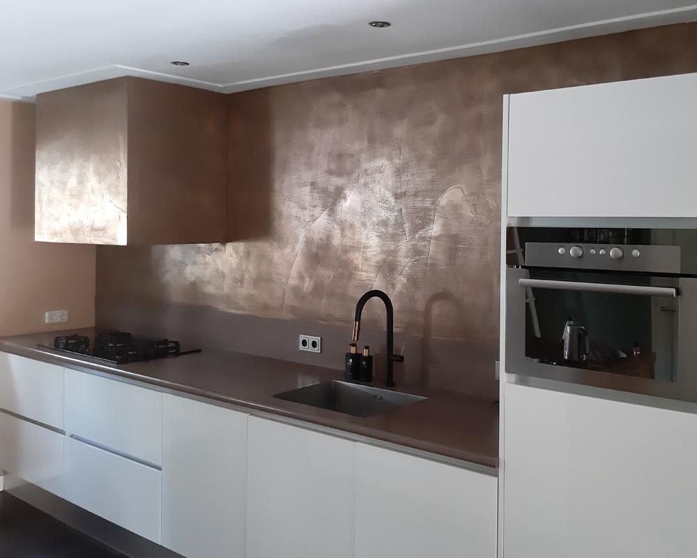 metal stuc keuken