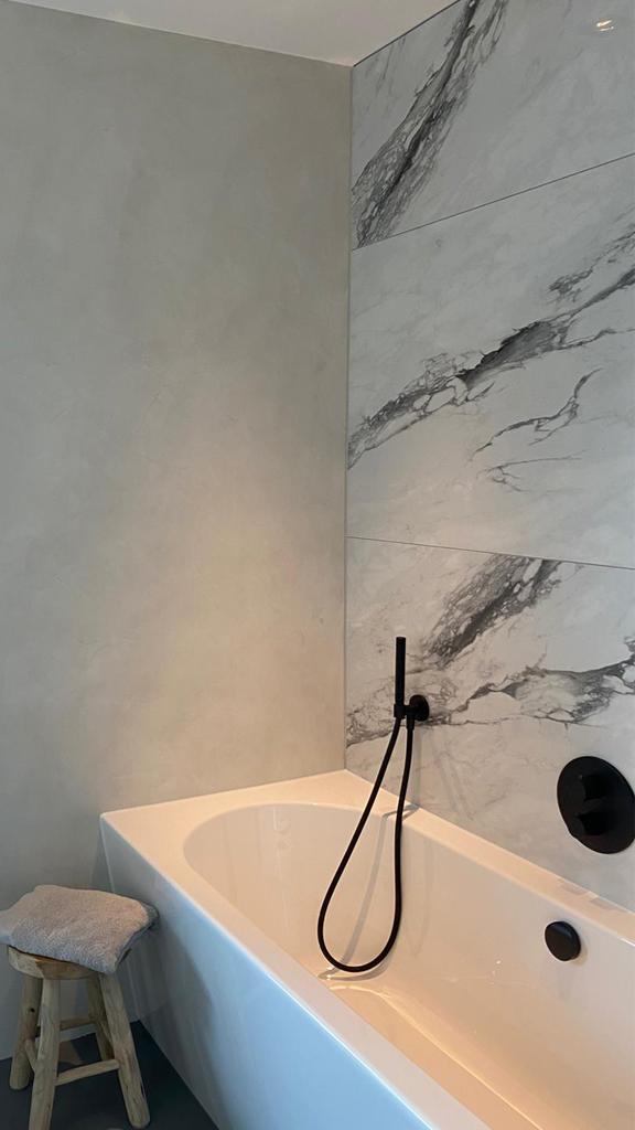 beton cire wit badkamer